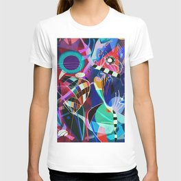 Night life, Wassily Kandinsky inspired geometric abstract art T-shirt