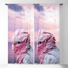 Pink Galah Cockatoo Blackout Curtain