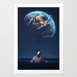The Earth Head by GEN Z Art Print