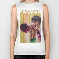 "pac man Biker Tanks featuring ""Pac Man"" by Basic Lee"