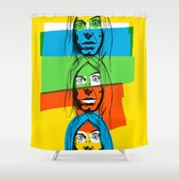 iggy azalea Shower Curtains featuring Iggy by Mohac