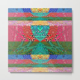 Abstract Modern Psychedelic Gentle Lines Metal Print