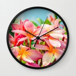 Pua Melia ke Aloha Maui Wall Clock