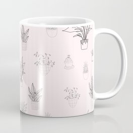 Cute Pink House Plant Pattern Coffee Mug
