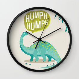 Brontosaurus print Wall Clock
