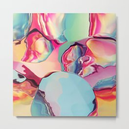 Cherry Boom Bubblegum Metal Print