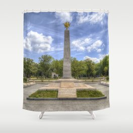 Soviet War Graves And Memorial Budapest Shower Curtain