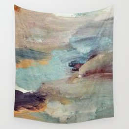 Gentle Beauty [5] - an elegant acrylic piece in deep purple, red, gold, and white Wall Tapestry