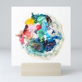 Rainbow Earth Paint Moon Love Mini Art Print