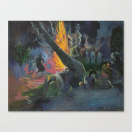 Upa Upa (The Fire Dance) by Paul Gauguin Canvas Print