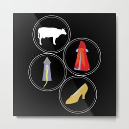 The Cow as White as Milk... Metal Print