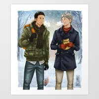 Daichi and Suga Art Print