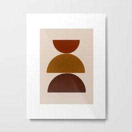 Mid Century Modern-Balance Metal Print