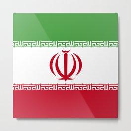 Iran flag emblem Metal Print