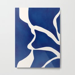 Modern Minimal Abstract Blue #7 Metal Print