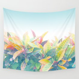 After the rain / Tropical Croton Leaves 4 Wall Tapestry