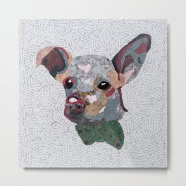 Doggy with a Bow Tie Metal Print