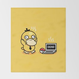 Psyduck in real life Throw Blanket