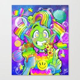 90s Alien Girl Canvas Print