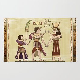 Calling to the Gods Egyptian Folk Art Rug
