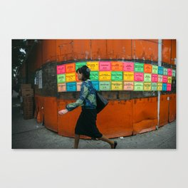 Walking in New York - Photograph by Jackie Dives Canvas Print