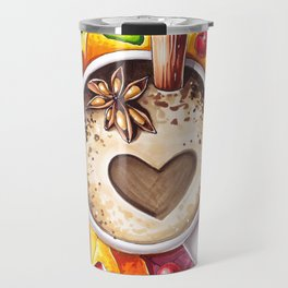 Fall and cup of coffee Travel Mug