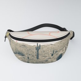Wonder Rift // Abstract Vintage Mountains Summer Sun Surfer Beach Vibes Drawing Happy Wall Decor Fanny Pack