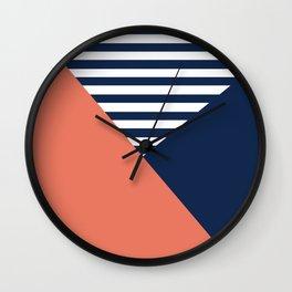 Three colors Wall Clock