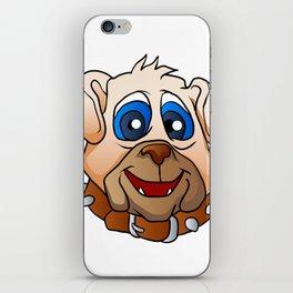 bulldog face. iPhone Skin