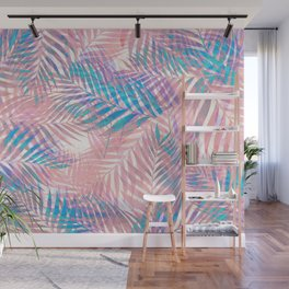 Palm Leaves - Iridescent Pastel Wall Mural