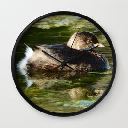 Pied-billed Grebe Wall Clock