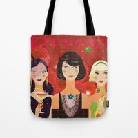 disco Tote Bags featuring Disco by Jonny Bateau