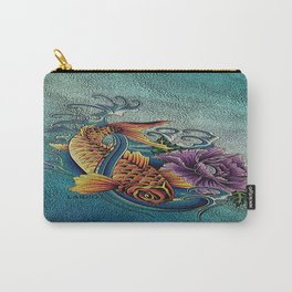 Golden Koi Carry-All Pouch