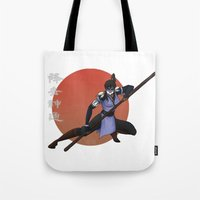 fierce Tote Bags featuring Fierce by KaiAyame