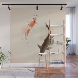 Yin Yang Koi fishes 001 Wall Mural