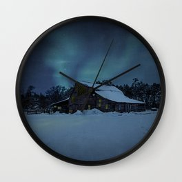 Winter finds out what summer lays up. Wall Clock