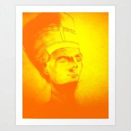 Golden Pharaoh Art Print