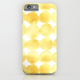 Imperfect Geometry Yellow Circles iPhone Case