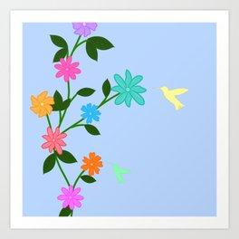Flowery Day Art Print