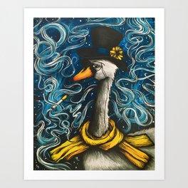 Smoking Swan Art Print