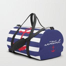 AFE Nautical Red Ship Anchor Duffle Bag