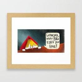 Little Red Riding Hood - Pg 6 Framed Art Print