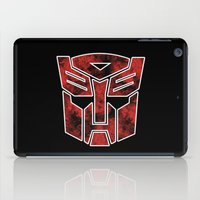 transformers iPad Cases featuring Autobots in flames - Transformers by Yiannis