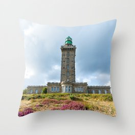 Cap Frehel Lighthouse Throw Pillow