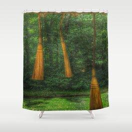 Handmade Brooms Shower Curtain