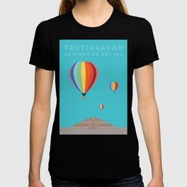 Teotihuacan, La Piramide del Sol, Mexico Travel Poster T-shirt