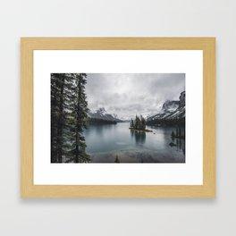 Maligne Lake Jasper Alberta Framed Art Print