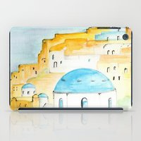 greece iPad Cases featuring Skyline Greece by A Creative Need
