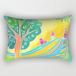 Rainbow Field Rectangular Pillow