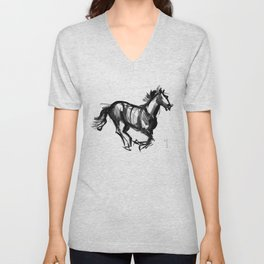 Horse (Far from perfection) Unisex V-Neck
